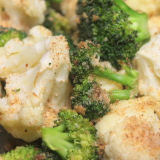 Parmesan Roasted Broccoli and Cauliflower