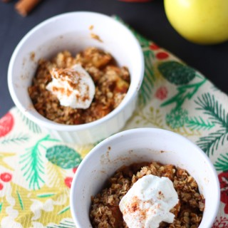 15 Minute Personal Apple Crumble