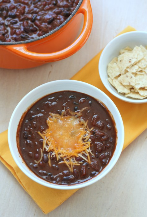 smoky two bean chili