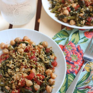 Sauteed Broccoli Raab Chickpeas & Toasted Quinoa