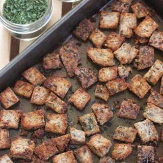 Sprouted Grain Herb Croutons
